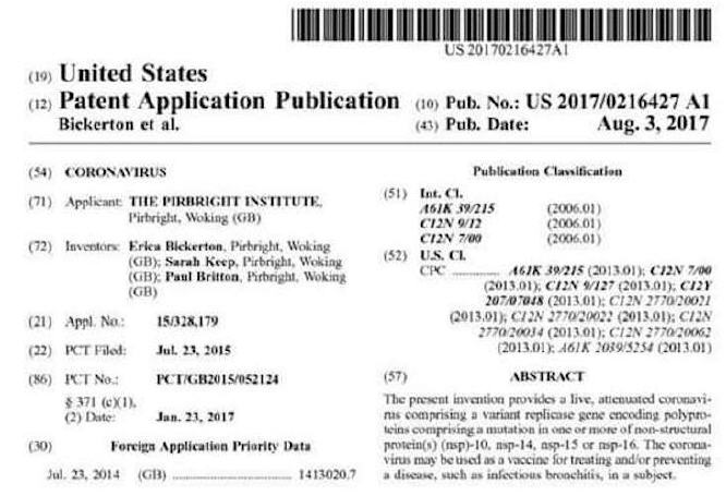 us coronavirus patent 3aug2017